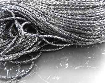 3 meters of black braided cord