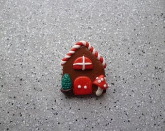 Christmas special polymer clay brooch