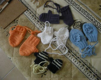 mittens for baby to the handmade crochet