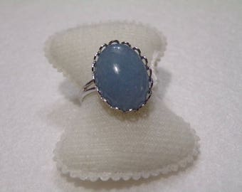 aquamarine cabochon ring