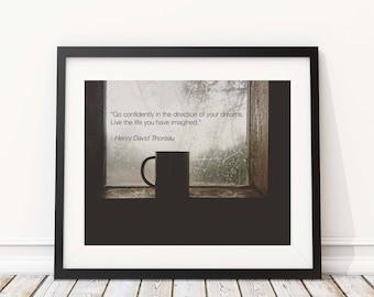 Henry David Thoreau Go Confidently Wall Print | 8x10 Wall Art