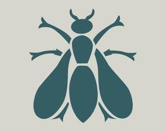 Bee. Napoleonic bee stencil. Adhesive vinyl stencil any medium (ref 217)