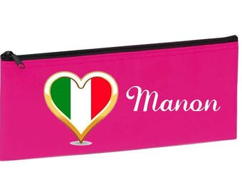 School Kit fuschia Italy customized with name