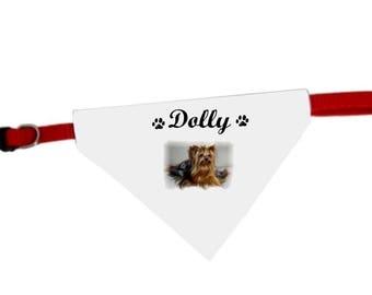 Necklace personalized with name yorkshire dog bandana