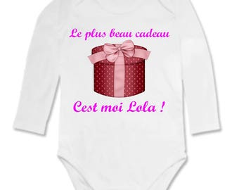 Bodysuit baby gift personalized with name