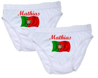 Boys personalized with name Portugal underwear