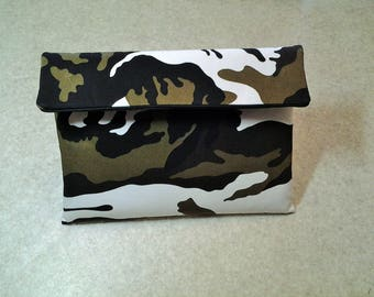"Tablet case / pouch in cotton sateen ""Camouflage"""