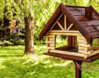 Wooden bird feeder etsy for Acheter table exterieur