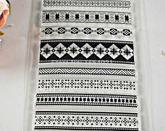 8 beautiful large ethnic patterns silicone pads