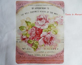 transfer 95.   transfer on fabric: transfer: beautiful ROSES, SHABBY CHIC STYLE