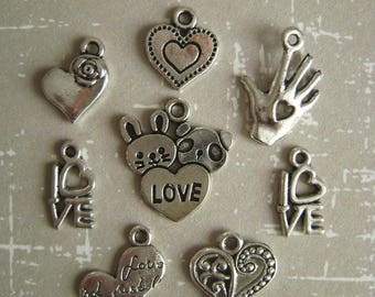 Hearts charms