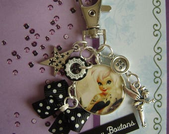 "Keychain or bag charm ""Tinkerbell Gothic"""
