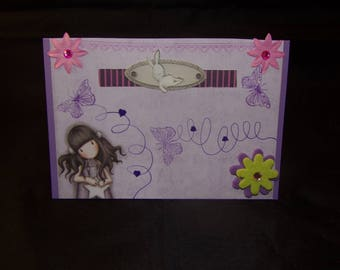 """""""Flight of butterflies"""" greeting card for all occasions"""