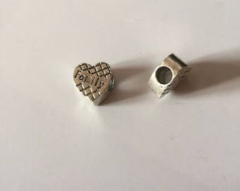 """heart"" beads"