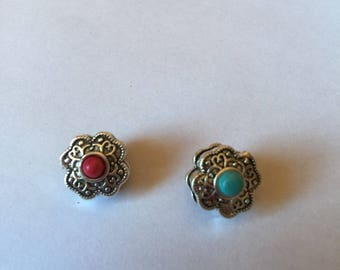 Brass flower bead