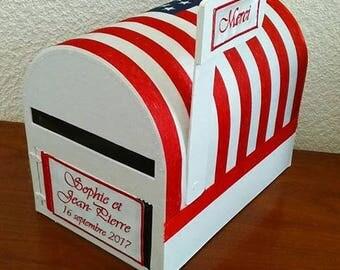 Money box / urn / pot for wedding: the mailbox USA