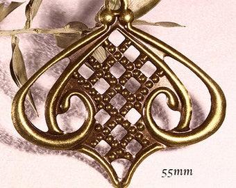 prints 10 Lantern 55x50mm bronze filigree chandeliers