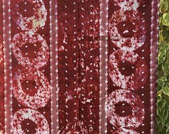 "Batik 100% cotton Burkina ""Madder color"""
