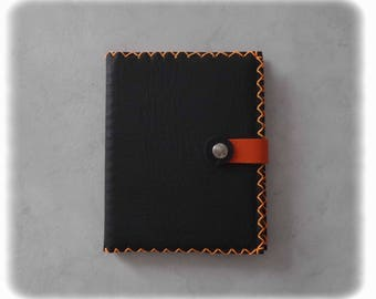 Black and orange 2018 leather diary