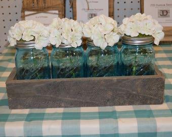 Vintage Mason Jar Flower Box