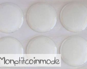 20mm - set of 4 Stickers Domes for supports cameo cabochons