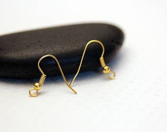 Set of 40 hooks gold earrings