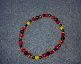 Bracelet earth fire (red, yellow and black)