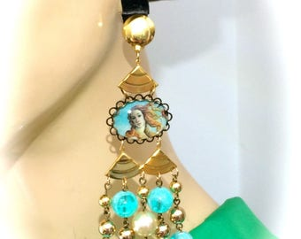 XXL earrings designer vintage baroque