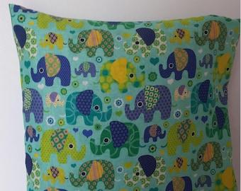 Animal children Cushion cover / elephants / 40x40cm/decoration