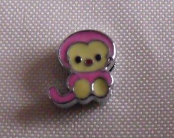 passing 12mmx10mm pink animal print bead