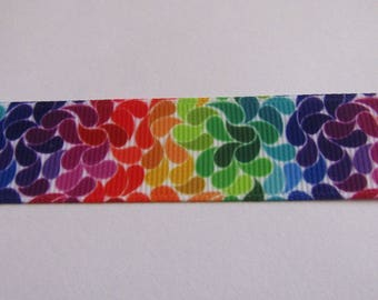 Ribbon 22mm wide multicolor grosgrain Ribbon