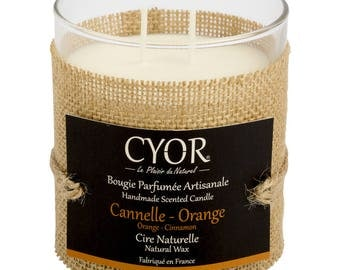 Candle SCENTED cinnamon-Orange 240g