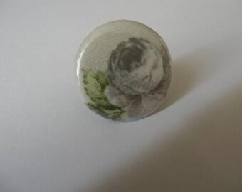 Ring flower badge fabric 3cm