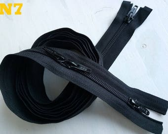 "Large zipper 7 4 ""sliders"" YKK Nylon zipper long to 1 to 1.5 meter mouth to mouth, 2 double sliders autolock"