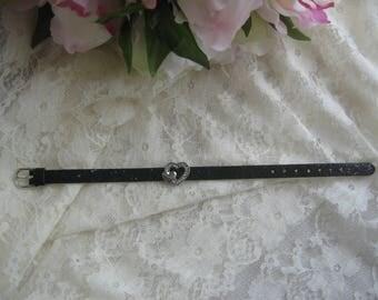 Free shipping! bracelet in black imitation leather n ° 7
