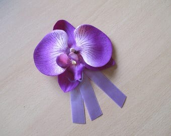 Brooch-wedding - lavender and purple boutonniere
