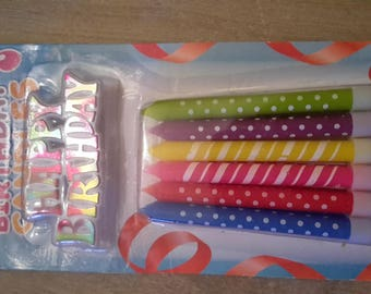 Birthday d x 12 Christmas candles