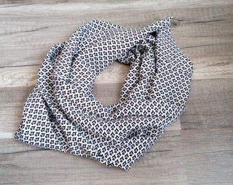 """Scarf neck snood lightweight spring summer """"Africa"""" by Fannygloo"""