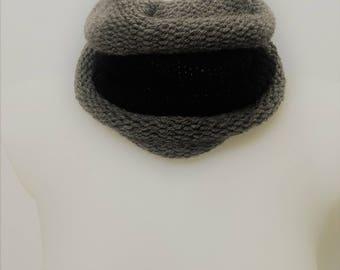 mixed duo knit snood