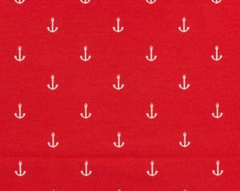 Stenzo rougex10cm white anchor jersey fabric