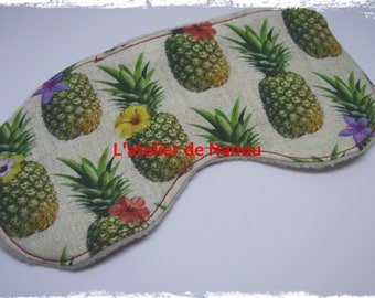 Pineapple print sleep mask