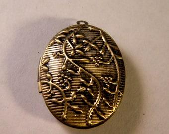 1 charm pendant Locket door photo-bronze - 30 mm B023
