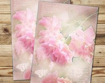 """Set of 2 postcards """"Roses"""" FSC paper"""