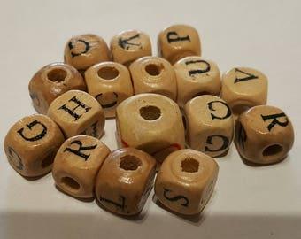 Lot 15 wood letters