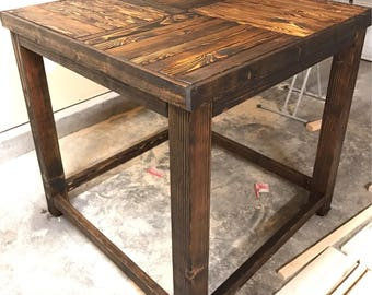 Pub Style Table, Rustic Dining Table, Wood Table, Rustic Dinner Table, Farmhouse Table, Rustic Pub Table, Reclaimed Wood Table