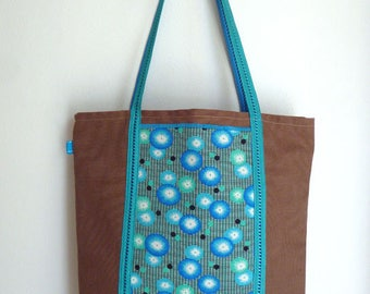 TOTE Bag / shopper bag in cotton lined