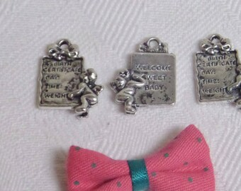 3 charms, Angel and welcome gift for birth