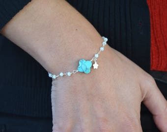 Bracelet 925 sterling silver Rosary style chain