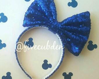 Royal blue oversized bow