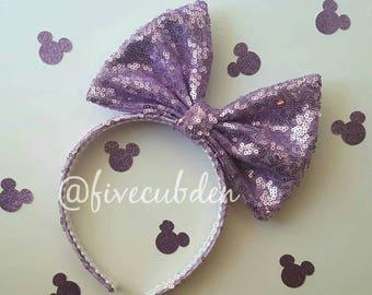 Lavender oversized bow